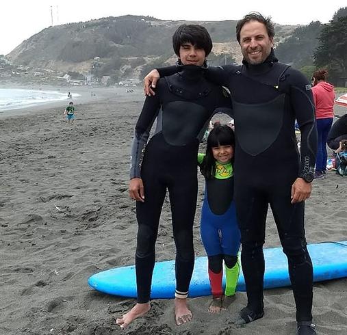 Rodrigue Azat with family